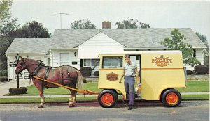 G34/ New Philadelphia Ohio Postcard Chrome Goshen Dairy Wagon Delivery Dewey