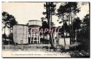 Old Postcard Chateau d & # 39eau Military Camp Souge Army
