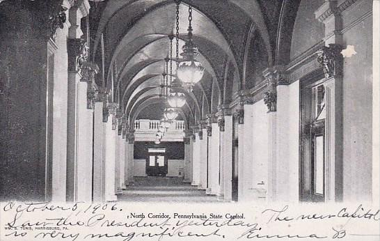 Pennsylvania Harrisburg North Corridor Pennsylvania State Capitol 1906
