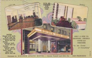 Golden State Hotel Multi Views Corner Powell and Ellis Streets San Francisco ...