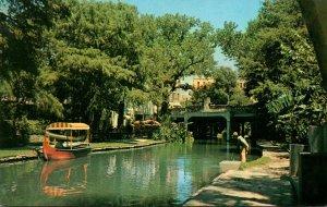 Texas San Antonio Scene On San Antonio River