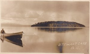 RP: STUART LAKE, British Columbia, Canada, 10-20s; Man in Row Boat