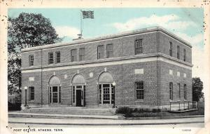 B94/ Athens Tennessee Tn Postcard c1930s U.S. Post Office Building