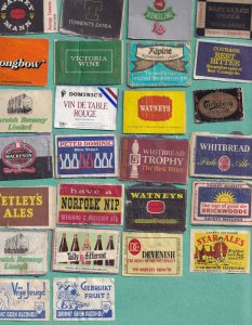 26x Watneys Whitbread Brewery Real Ale Pub Norfolk Matchbox Label s