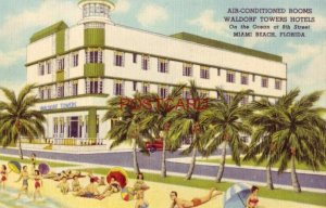 WALDORF TOWERS HOTEL on the Ocean at 9th Street MIAMI BEACH, FLORIDA