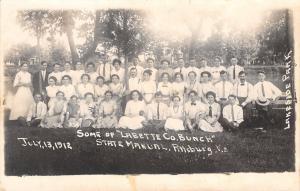 Pittsburg KS~Lakeside Park~State Manual Undergrads~Labette Co Bunch RPPC 1912