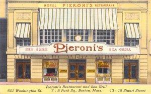Pieroni's Restaurant & Sea Grill Boston, Massachusetts Postcard