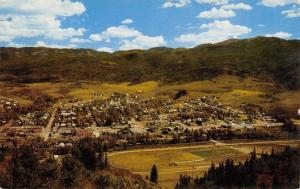 Steamboat Springs Colorado~Town Panorama From Howelsen Ski Hill~1957 Postcard