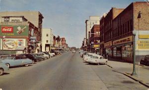 Boone Iowa~Story Street~National Food Store~Coca-Cola Billboard~1950s Cars~PC