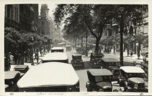 brazil, RIO DE JANEIRO, Avenida Rio Branco, Cars (1930s) RPPC