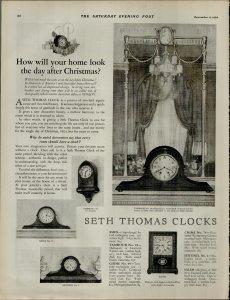 1924 Seth Thomas Clocks Vintage Print Ad 3947
