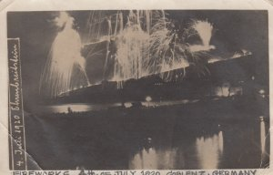 RP: COBLENZ, Rhineland-Palatinate, Germany; 1920 ; Fireworks