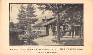 North Woodstock New Hampshire birds eye view Kisnop Lodge antique pc Z21458