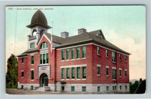 Ashland OR-Oregon, East School, Vintage Postcard