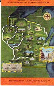 US - Wisconsin - Historicl Map of Wisconsin - Library
