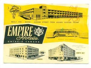 Empire Motor Hotels, Ontario, Canada, PU-1977