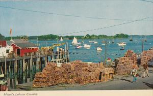 Fishing Village and Lobster Traps Maine