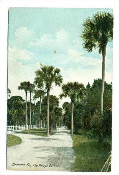 The Village Street (Dirt), Ormond, Florida, PU-1908
