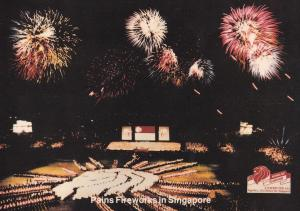 Pains Fireworks Display at Singapore Limited Edition Postcard