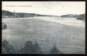dc1300 - CHICOUTIMI Quebec Postcard 1910s Saguenay River View