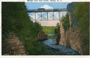 NY - Ithaca, Bridge Over Fall Creek