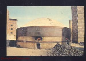 BRAZIL INDIANA CLAY PRODUCTS PLANT BRICK FACTORY ROUND BARN VINTAGE POSTCARD