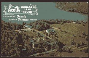 New York DEPOSIT Air View of Scott's Oquaga Lake House, Oquaga Lake Chrome