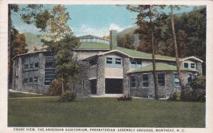 MONTREAT, NC ,PU-1923; Front, Anderson Auditorium, Presbyterian Assembly Grounds