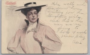 Advertising-Fiskhats, Chicago, Ill., Fashionable Lady Wear with a Fisk Hat-1907