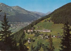 Switzerland, Suisse, CLAVADEL, Davos, Schatzalp and Dorfberg, used Postcard