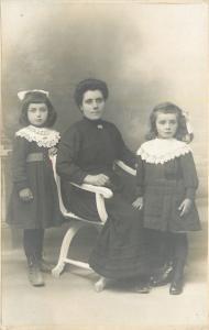 Béziers Languedoc France~Marguerite, Marci, & Mathilde~Vidal RPPC c1910