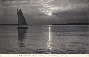 LAKE GENEVA , Wisconsin , 1939 ; Evening Sky
