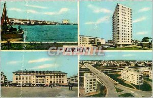 Postcard Modern in Lorient Fishing Port Tower 14 floors Aristide Briand Bridg...