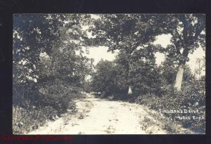 RPPC LIBERTYVILLE ILLINOIS LAKE EARA SHELDON'S DRIVE REAL PHOTO POSTCARD 1909
