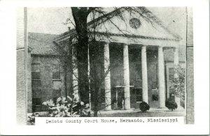 Vtg Postcard RPPC Desoto County Court House - Hernando, Mississippi - Unused