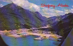 Alaska Skagway Aerial View Of Waterfront