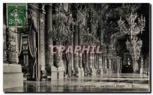 Old Postcard Paris Opera The grand foyer