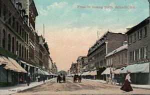 BELLEVILE , Ontario , 1900-10s ; Front Street , Looking North