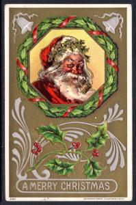 A Merry Christmas,Santa Smoking Pipe