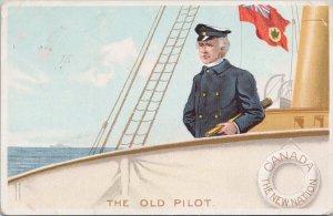 Sir Wilfrid Laurier 'The Old Pilot' Canada Patriotic Postcard C3 *as is