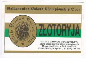 QSL radio card  ZLOTORYJA, Poland 60-80s Goldpanning Poland Championship Open