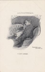 Romance Couple , A cozy Corner , 1903