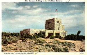 Carlsbad, New Mexico - The Elevator Building at Carlsbad Caverns - in 1951