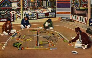 Navajo Indians - Whirling Log Sand Painting