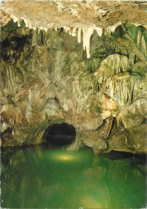 Postcard Czech Republic Moravian Karst Punkva Caves Boat trip