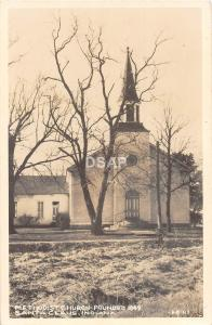 Indiana In Real Photo RPPC Postcard c1940s SANTA CLAUS Methodist Church Building