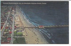 Daytona Beach, FL - from the Air, by Moonlight - 1951