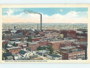 Unused W-Border FACTORY SCENE Canton Ohio OH c6842