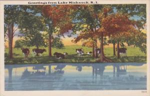 Rhode Island Greetings From Lake Mishnock 1957