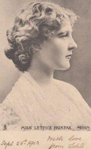 Miss Lettice Fairfax , 1903 ; TUCK
